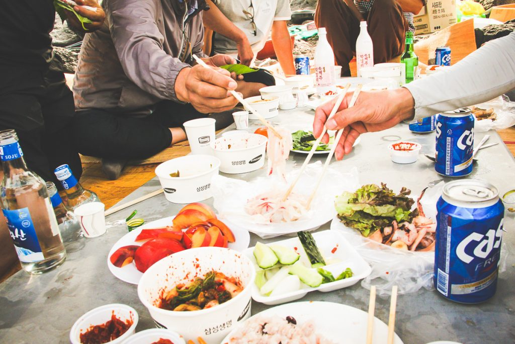 sashimi on Jeju Island by The Willing Road