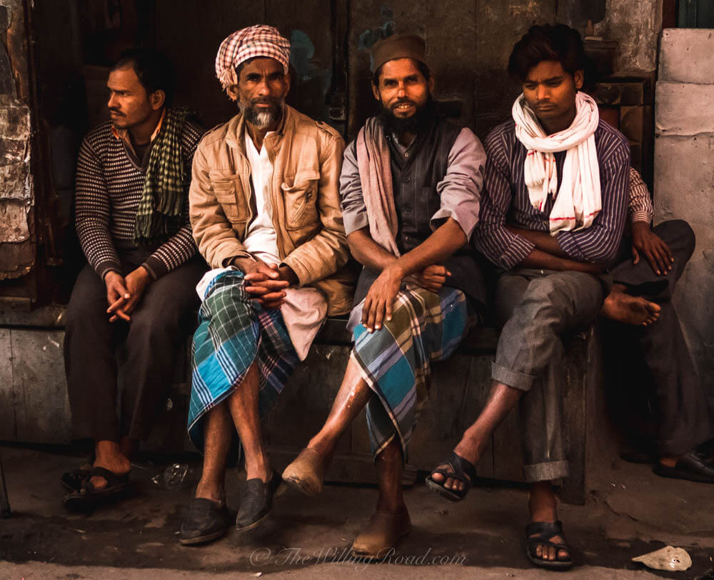 Old Delhi: Five men, one is too shy